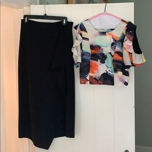 Two piece Kendall and Kylie skirt and top